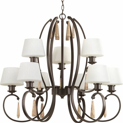 Catharine 9-Light Shaded Chandelier