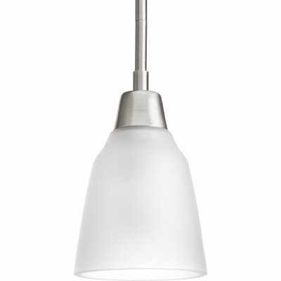 Asset 1 Light Mini Pendant Finish: Brushed Nickel, Bulb Type: Medium Base (not included)