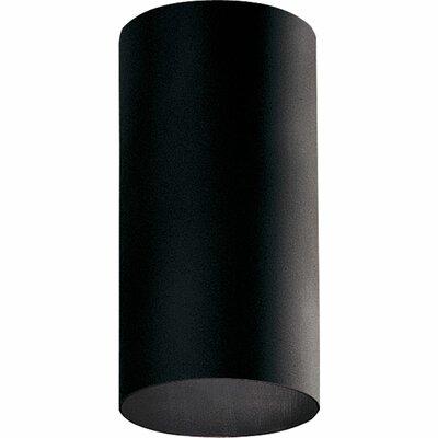Cylinder 1-Light Flush Mount Shade Color: Black