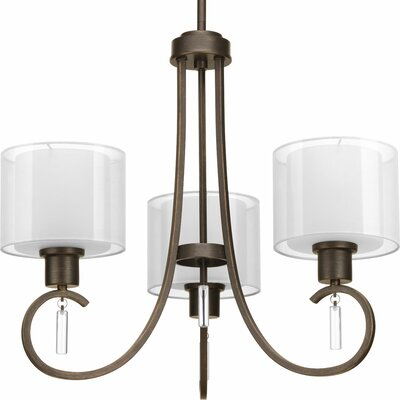 Invite 3-Light Shaded Chandelier Finish: Antique Bronze