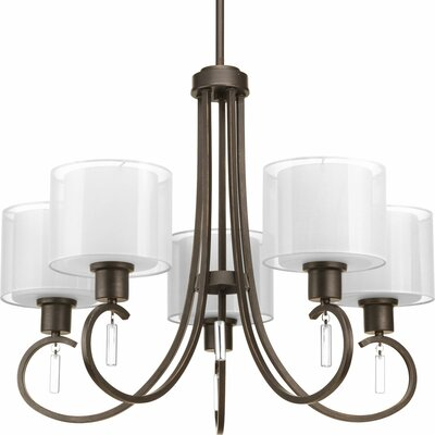 Ernestina 5-Light Shaded Chandelier Finish: Antique Bronze