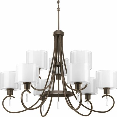 Invite 9-Light Shaded Chandelier Finish: Antique Bronze