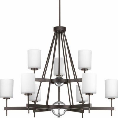Compass 9-Light Shaded Chandelier