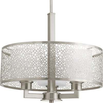 Mingle 3-Light Drum Pendant Finish: Brushed Nickel