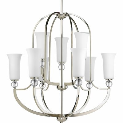 Macced 9-Light Shaded Chandelier