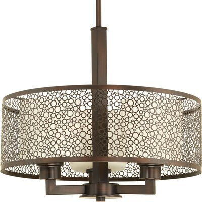 Komal 3-Light Drum Pendant Finish: Antique Bronze