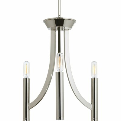 Manasi 3-Light Candle-Style Chandelier Finish: Polished Nickel