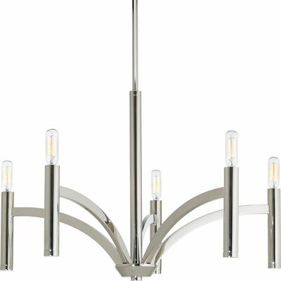 Manasi 5-Light Candle-Style Chandelier Finish: Polished Nickel