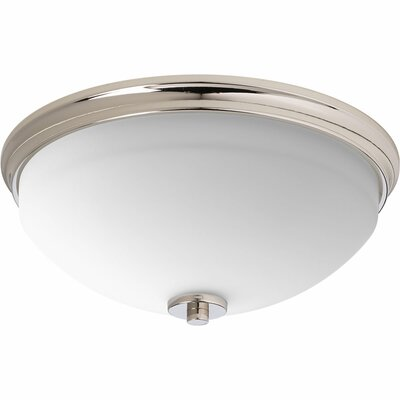 Knouse 2-Light Flush Mount Fixture Finish: Polished Nickel