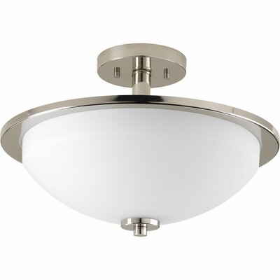 Clapton 2-Light Semi Flush Mount Finish: Brushed Nickel