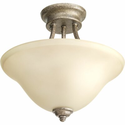 Abdou 2-Light Semi Flush Mount