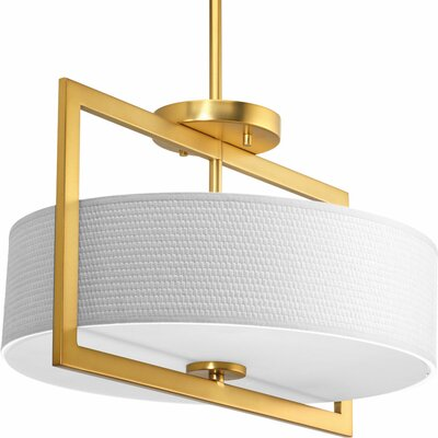 Urmee 3-Light Semi Flush Mount Size: 13.375 x 13.75