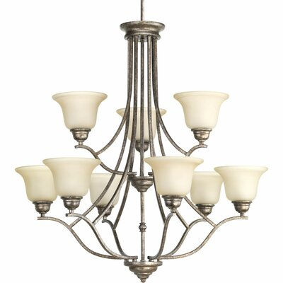 Abdou 9-Light Shaded Chandelier Finish: Polished Nickel