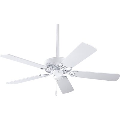 42 Goreville 5-Blade Ceiling Fan Finish: White with White / Washed Oak Blades