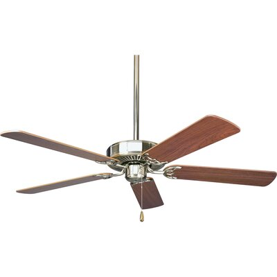52 Henaghan 5-Blade Ceiling Fan Finish: Brushed Nickel with Cherry / Natural Cherry Blades