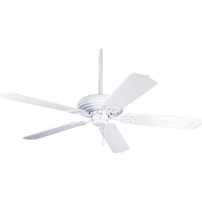 52 Gaylene 5-Blade Ceiling Fan Finish: White with White Blades