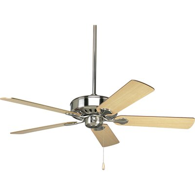 52 Covington 5-Blade Ceiling Fan Finish: Brushed Nickel with Cherry / Natural Cherry Blades
