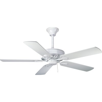 52 Covington 5-Blade Ceiling Fan Finish: White with White Blades