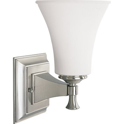 Progress Lighting Builder Bath Wall Sconce in Brushed Nickel | Wayfair