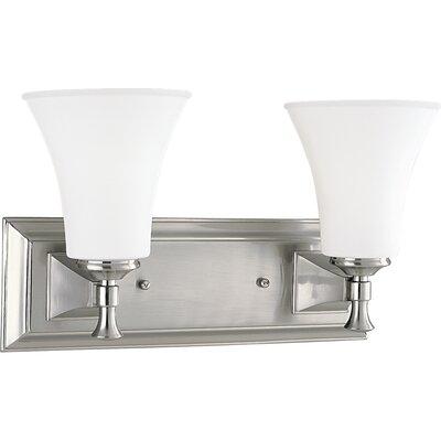 Balderston 2-Light Vanity Light Finish: Brushed Nickel