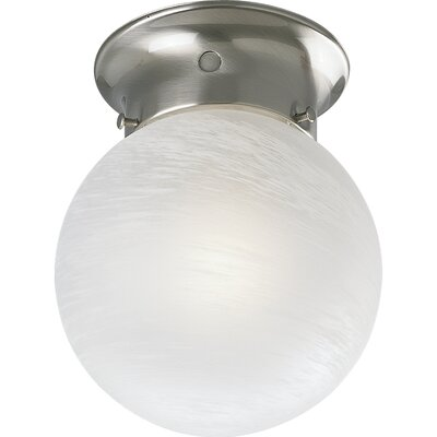 Ismenia Glass Globe Semi Flush Mount
