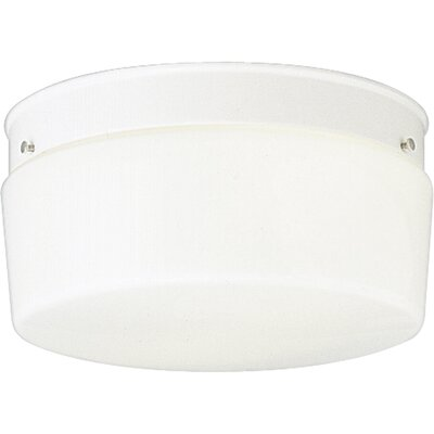 Bourne Glass White Snap-in Flush Mount
