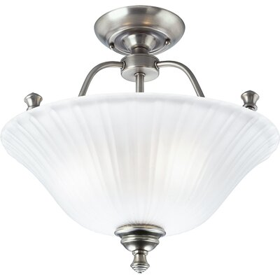 Denton Forged Bronze Semi Flush Mount Finish: Antique Nickel