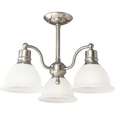 Gradall 3-Light Semi Flush Mount Finish: Brushed Nickel
