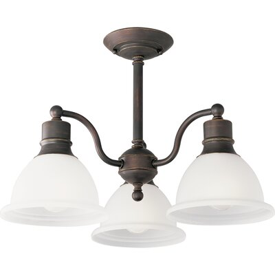 Gradall 3-Light Semi Flush Mount Finish: Antique Bronze