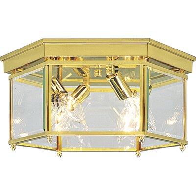 Beveled Glass Flush Mount Size: 5.125