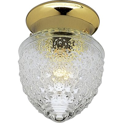 Lockington Polished Brass Acorn Single Light Flush Mount