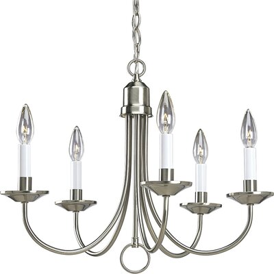 Graham 5-Light Candle-Style Chandelier Finish: Brushed Nickel