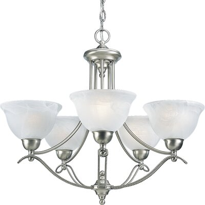 Ronetta Traditional 5-Light Shaded Chandelier