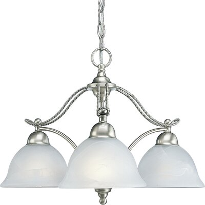 Avalon 3-Light Shaded Chandelier