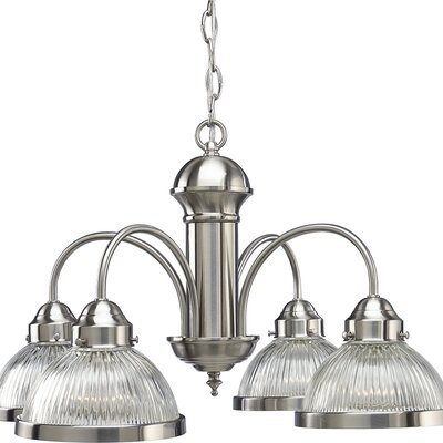 Welsey 4-Light Shaded Chandelier Finish: Brushed Nickel