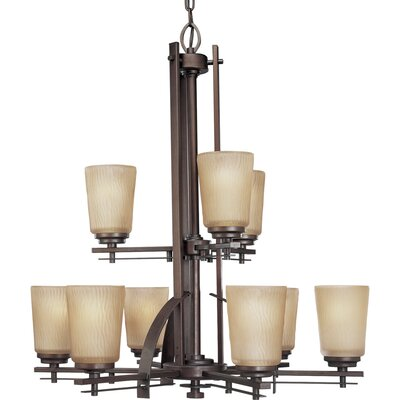 Arla 9-Light Shaded Chandelier