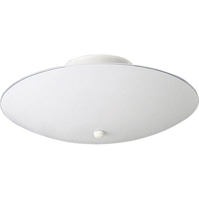 Boneta 60w Round White Glass Semi Flush Mount Size: 7H X 14.5 diameter