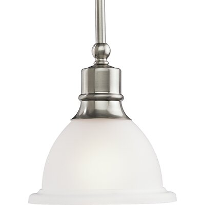 Madison 1-Light Mini Pendant Finish: Brushed Nickel