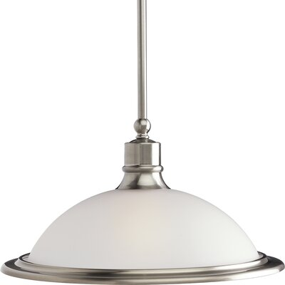 Gradall 1-Light Pendant Finish: Brushed Nickel