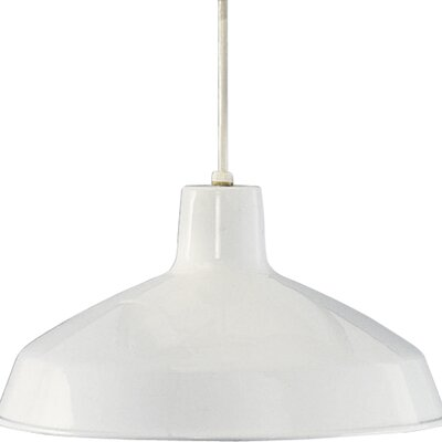 1-Light Cord-Hang Pendant Finish: White