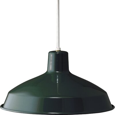 Aurianna 1-Light Cord-Hang Pendant Finish: Dark Green