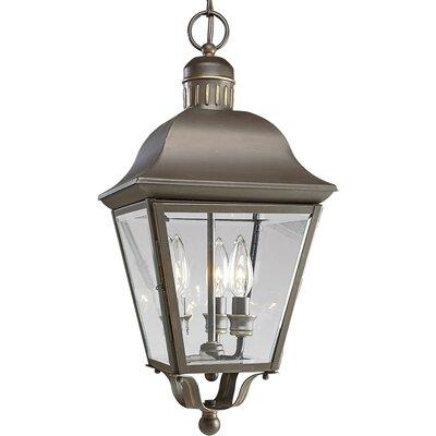 Triplehorn 3-Light Hanging Brass Lantern