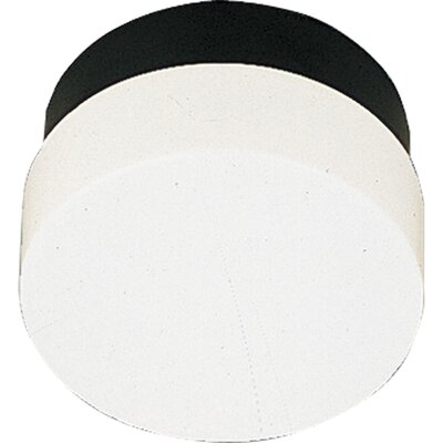 Hollen 1-Light Contemporary White Flush Mount