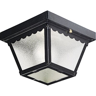 Reinhart Flush Mount Size: 7.25 W - 1 Bulb, Finish: Black