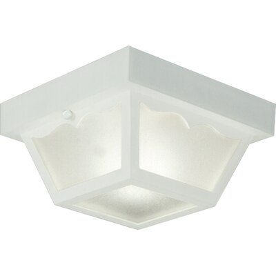 Boyster 1-Light Flush Mount Finish: White