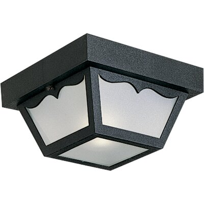 Boyster 1-Light Flush Mount Finish: Black