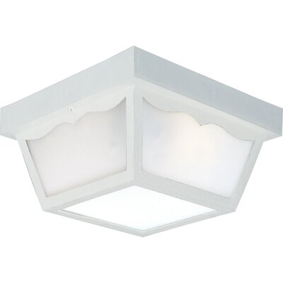 Bracken 2-Light Flush Mount Finish: White