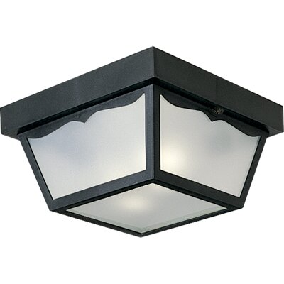 Bracken 2-Light Flush Mount Finish: Black