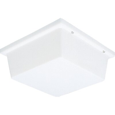 Hollen 2-Light Metal Flush Mount Shade Color: White
