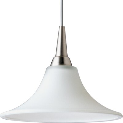 Illuma-Flex 1-Light Trumpet Mini Pendant Finish: Brushed Nickel with White Glass